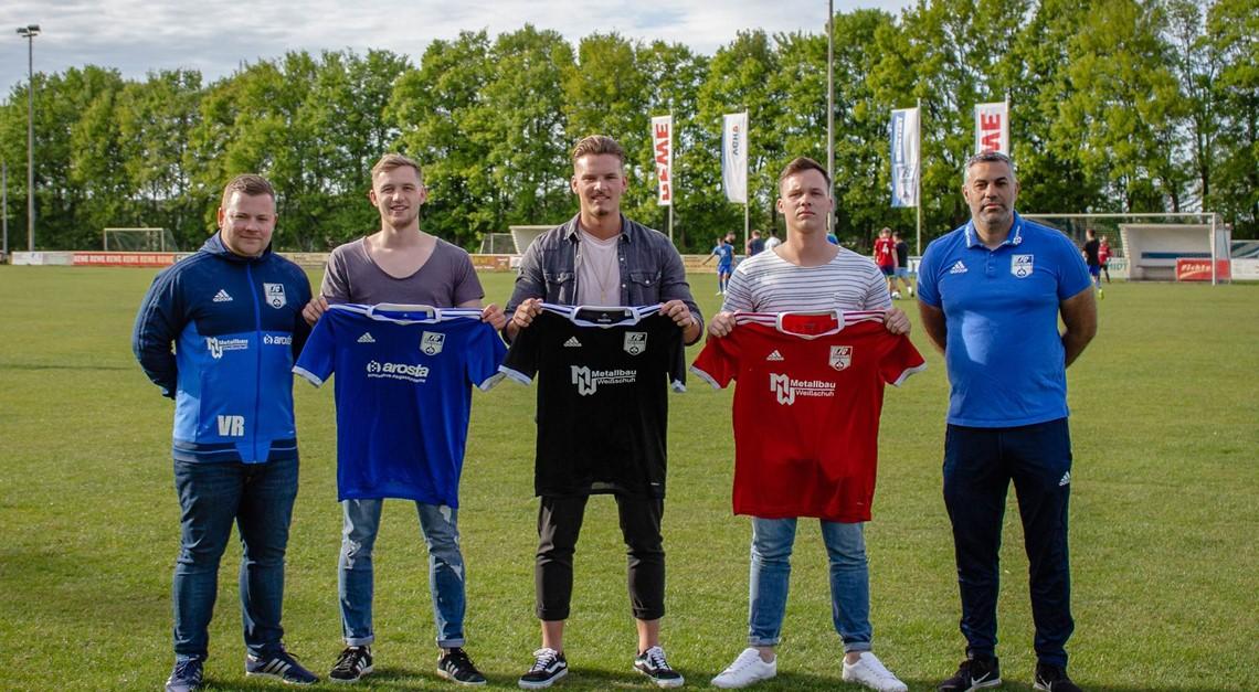 Der 1. FC präsentiert drei weitere Neuzugänge