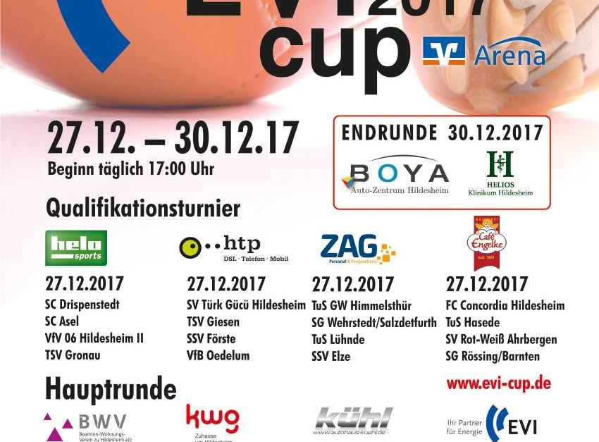 Gruppenauslosung für EVI Cup 2017