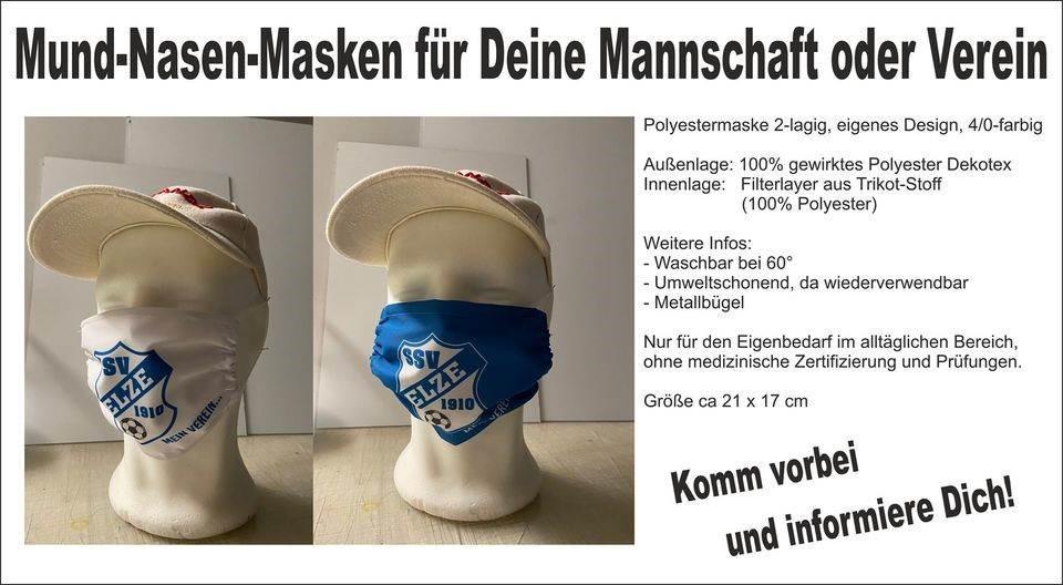 SSV-Masken bis zum 21.12.20 noch bestellbar!