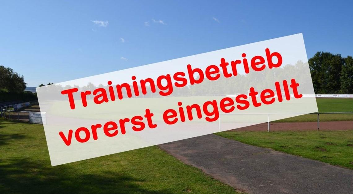 Trainingsbetrieb ebenfalls eingestellt