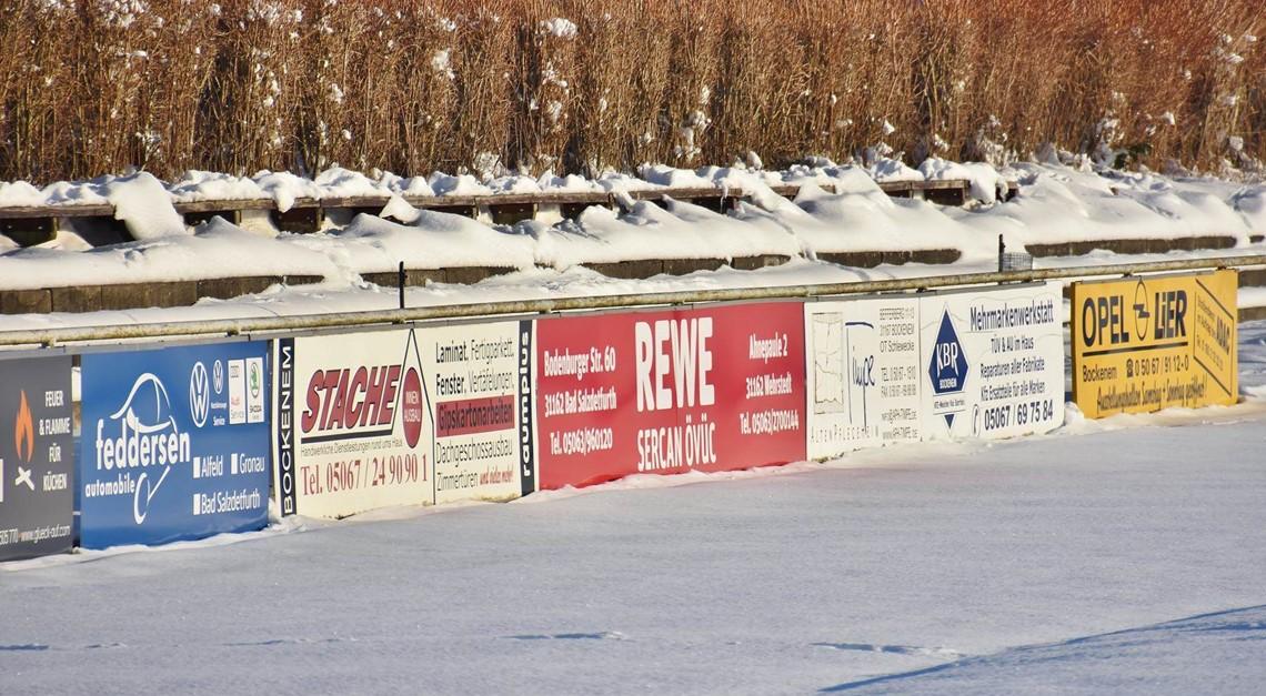 Winterlandschaft auf unserem Gelände