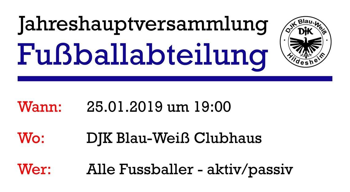 Jahreshauptversammlung der Fussballabteilung