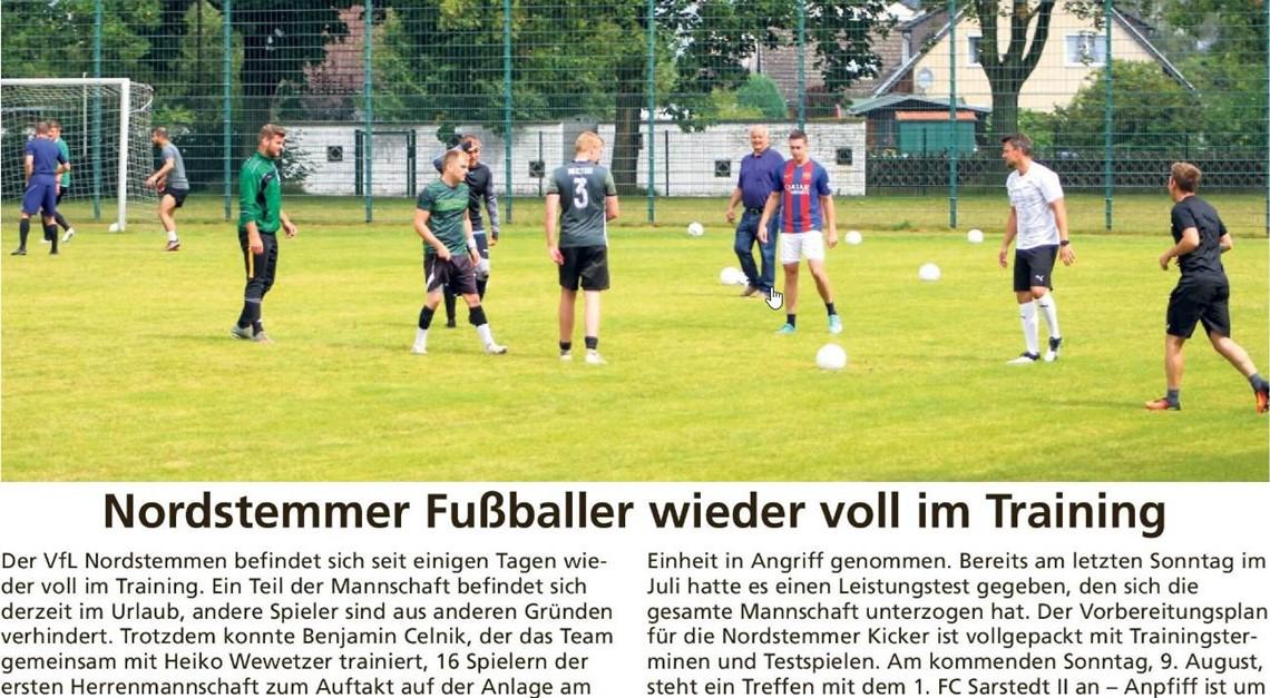 Nordstemmer Fußballer wieder voll im Training