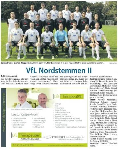 Mannschaftsvorstellung 2. Herren Saison 2020/21
