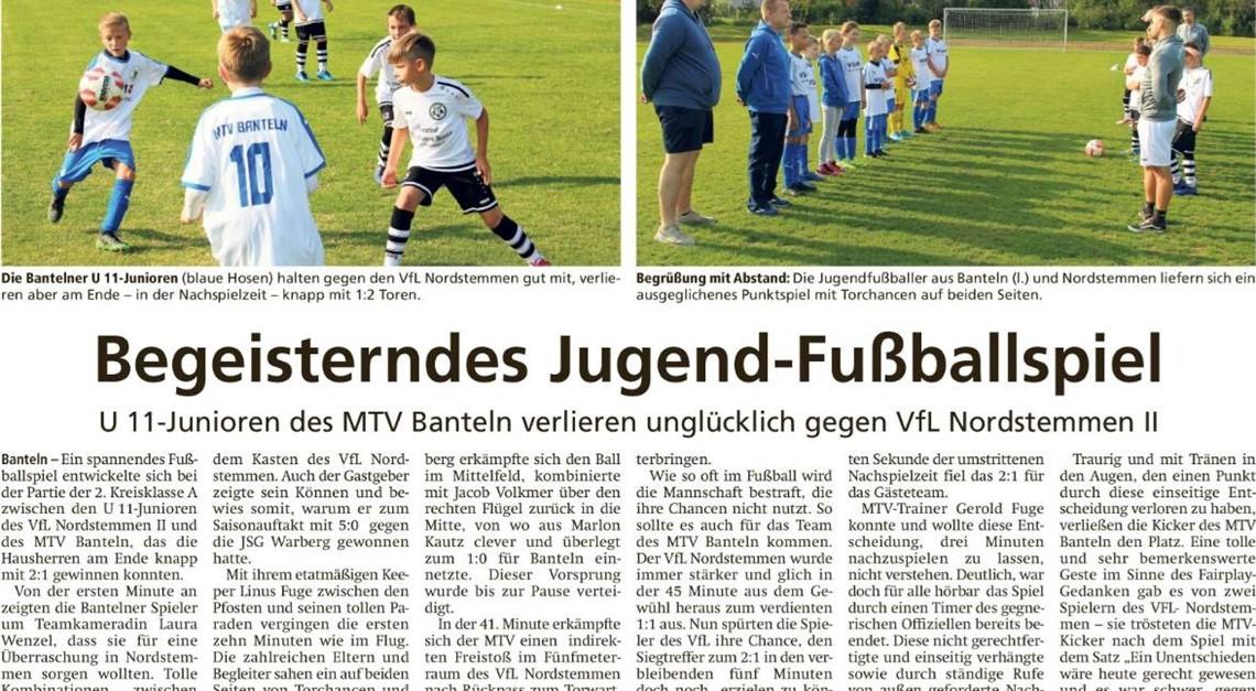 Begeisterndes Jugend-Fußballspiel