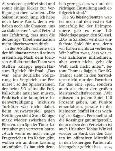Rückblick: Vorschau 3. Spieltag (LDZ)