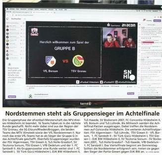 Berichterstattung eFootball-Kreismeisterschaft