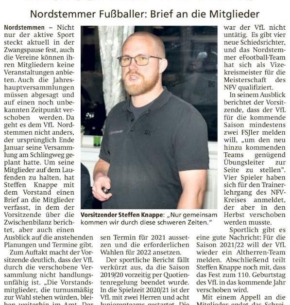 """""""VfL-Vorstand bleibt weiterhin im Amt"""""""