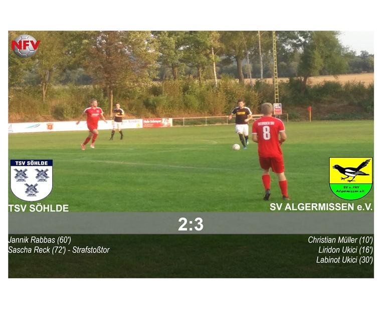 Der SV A gewinnt mit 3:2 in Söhlde