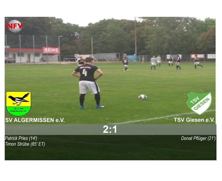 SV Algermissen - TSV Giesen 2:1