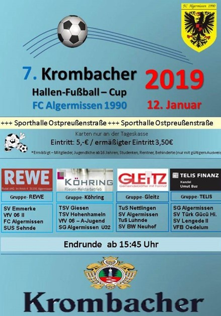 1. Herren nimmt am Krombacher - Cup 2019 teil ...
