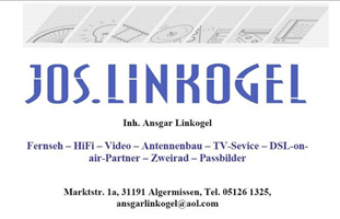 Sponsor - Jos. Linkogel