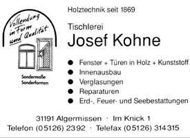 Sponsor - Tischlerei Kohne