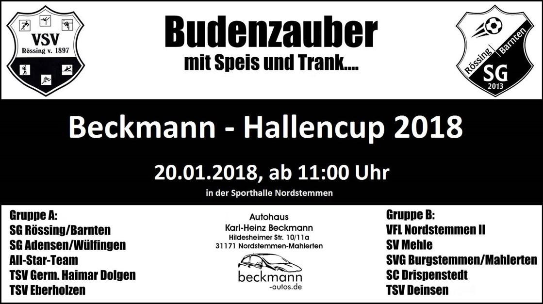 Autohaus Beckmann-Hallencup 2018 steht vor der Tür