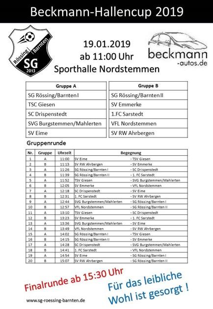 Beckmann-Hallencup 2019