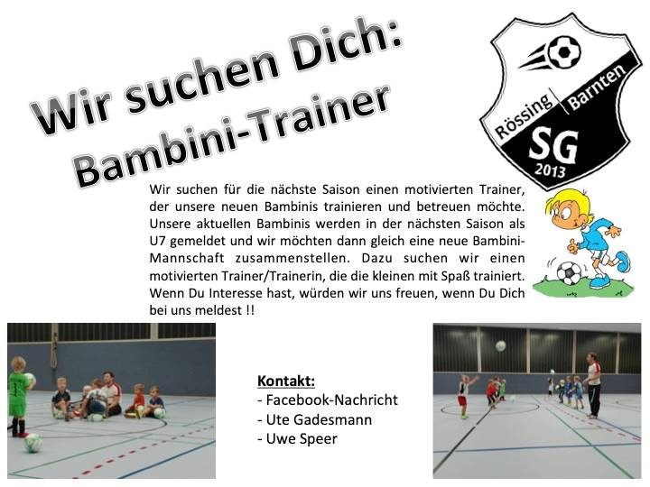 SG sucht Bambini-Trainer