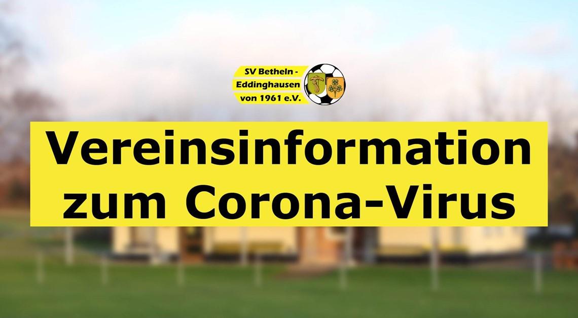 UPDATE: Vereinsinformation zum Corona-Virus
