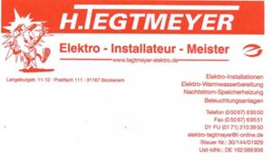 Sponsor - Elektro Tegtmeyer