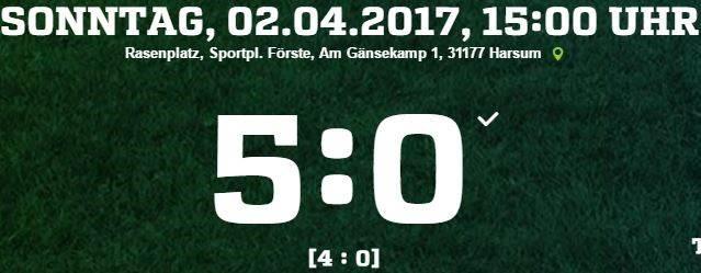 23. Spieltag - SSV Förste vs. TSV Heisede