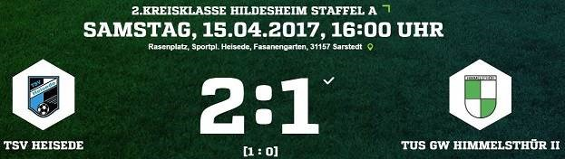 18. Spieltag - TSV Heisede vs. TuS GW Himmelsthür