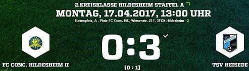 14. Spieltag - Conc. Hildesheim II vs. TSV Heisede