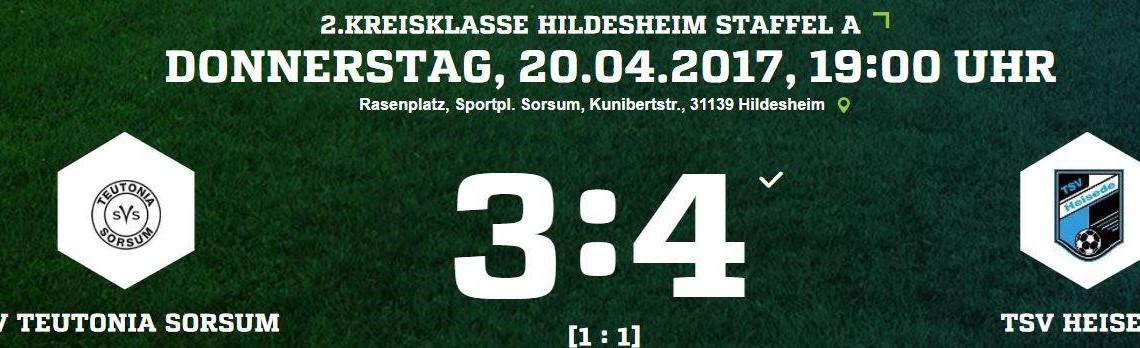 21. Spieltag - SV Teutonia Sorsum vs. TSV Heisede