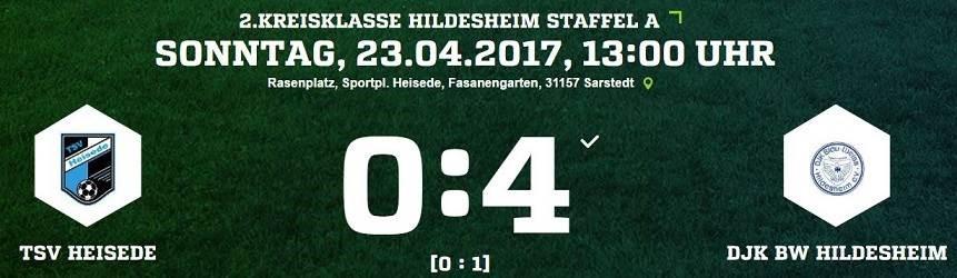 25. Spieltag - TSV Heisede vs. DJK BW Hildesheim