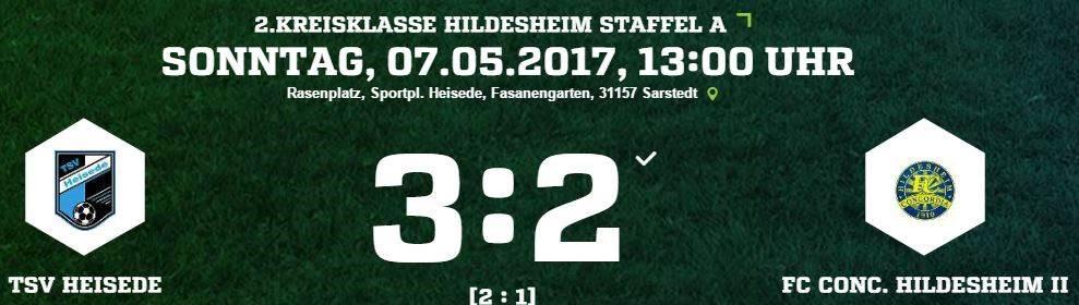 27. Spieltag - TSV Heisede vs. Conc. Hildesheim II