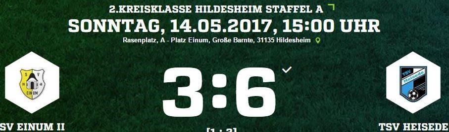 28. Spieltag - SV Einum II vs. TSV Heisede