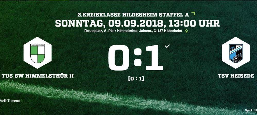 0:1 Sieg gegen Himmelsthür