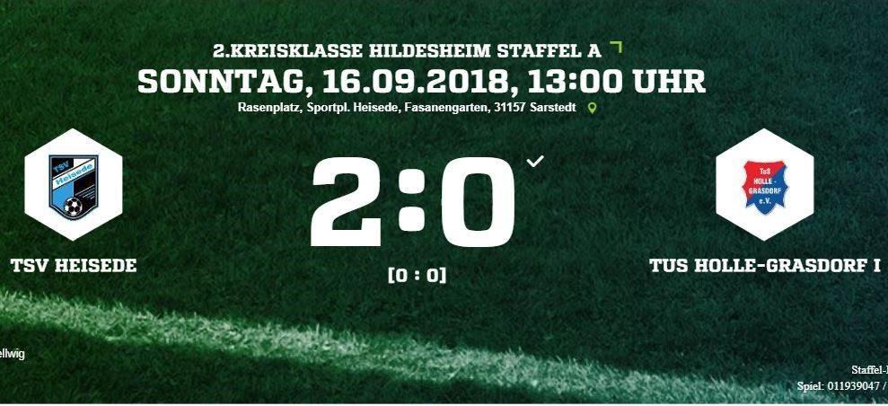 Nächster Sieg gegen Holle-Grasdorf