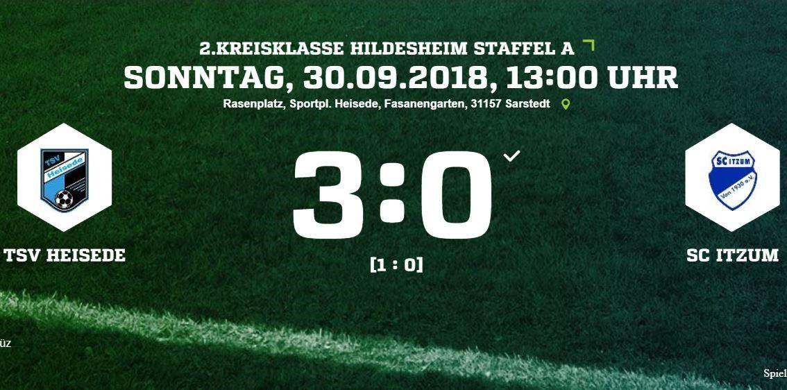 3:0 Sieg gegen Itzum