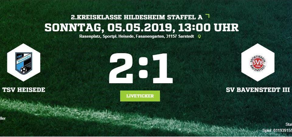 Durststrecke beendet. 2:1 Sieg gegen Bavenstedt!