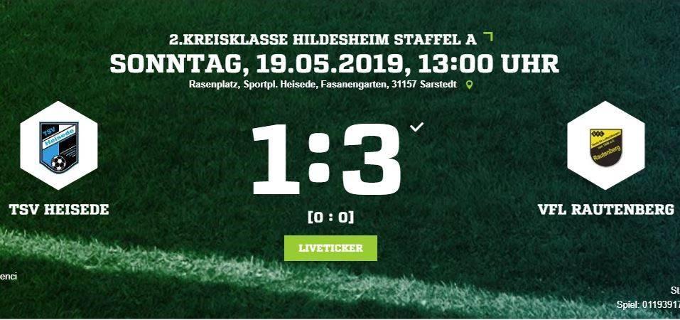 Niederlage gegen Rautenberg