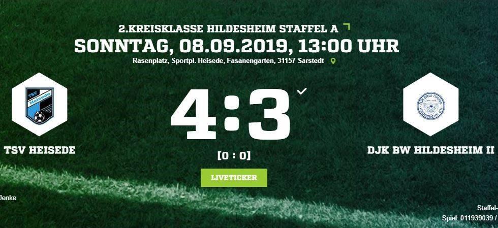 4:3 Sieg gegen DJK