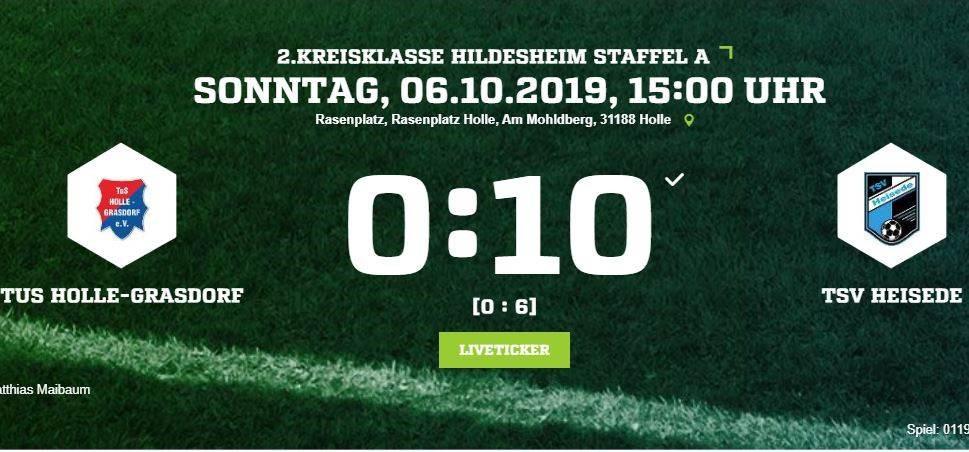 10:0 Sieg gegen Holle-Grasdorf