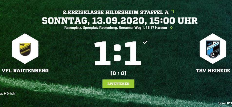 Gerechtes Unentschieden gegen Rautenberg