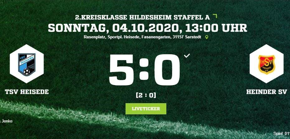 Klares 5:0 gegen den Heinder SV