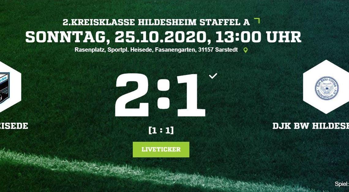 Knapper Heimsieg gegen DJK BW Hildesheim II