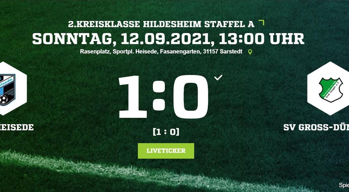 1:0 Sieg gegen Groß-Düngen