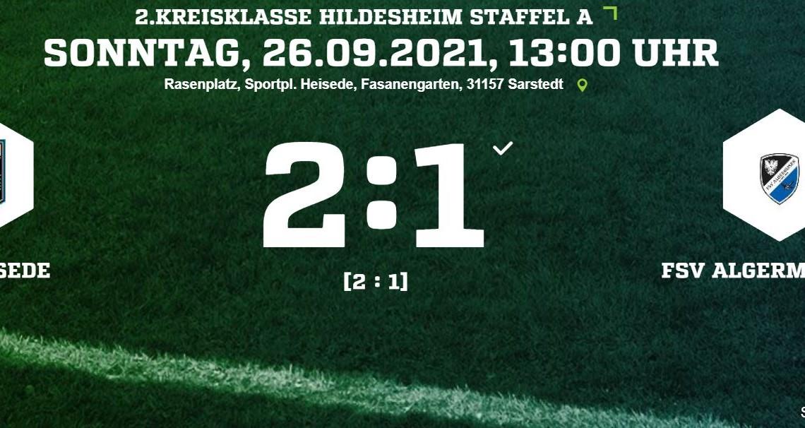 2:1 Sieg gegen Algermissen