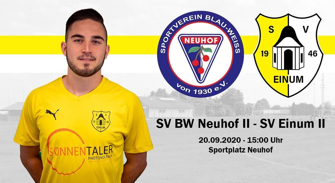 II. Herren auswärts beim SV BW Neuhof
