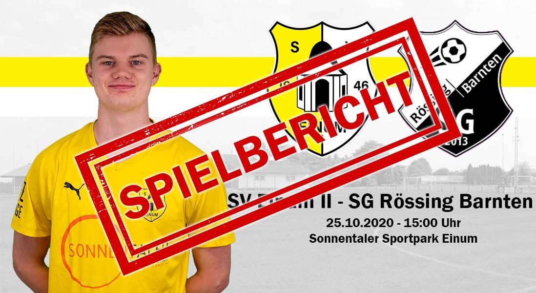 II. Herren: Nächster Heimsieg gg Rössing/Barnte!