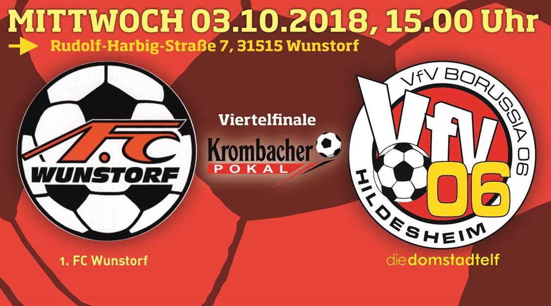Pokal-Aus: Bitteres 1:2 in Wunstorf !!