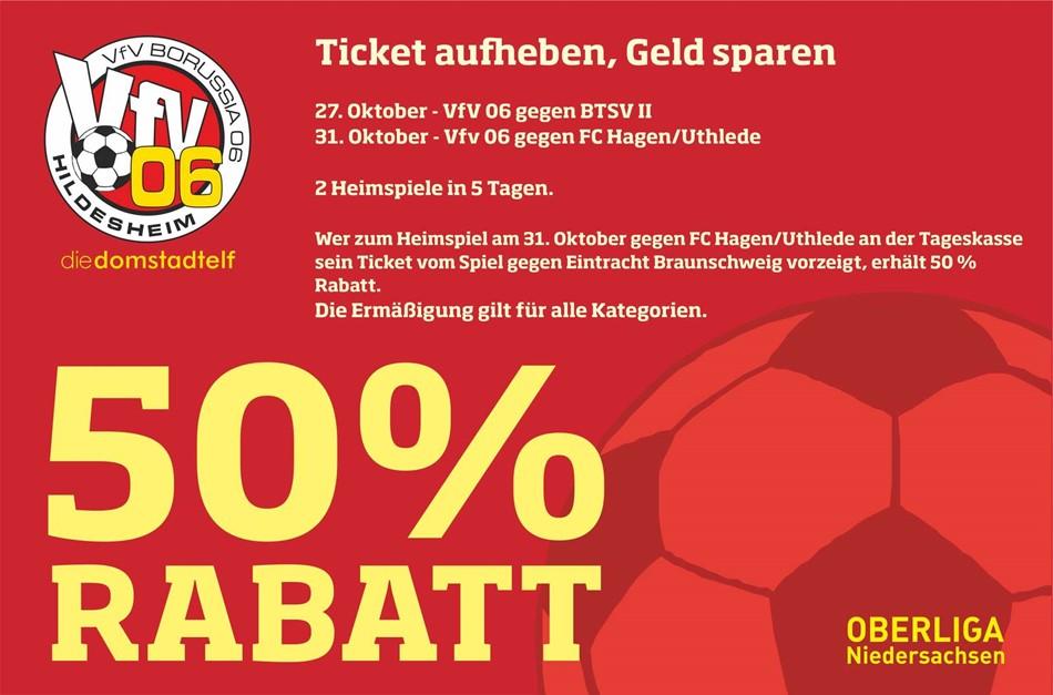 Heimspiel-Double: Ticket aufheben, Geld sparen !