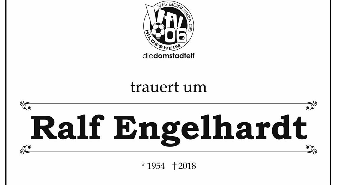 VfV 06 trauert um Ralf Engelhardt !