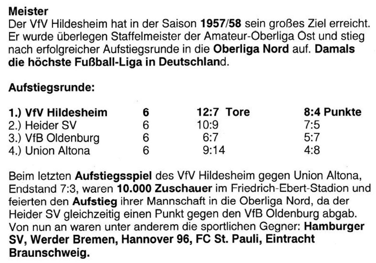 a11e4b7449f8bc Historie   Ligazugehörigkeit - VfV Borussia 06 Hildesheim