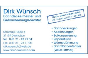 Sponsor - Dachdecker Wünsch