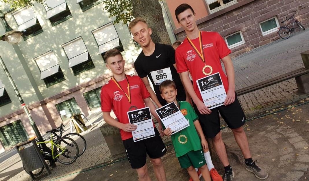 Eintracht Jungs erfolgreich beim Stadtlauf