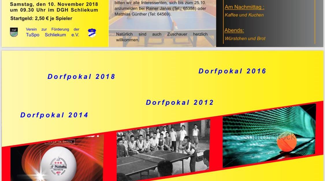 Tischtennis Dorfpokal 2018